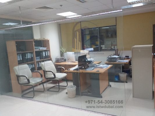 Low Height Glass Partition