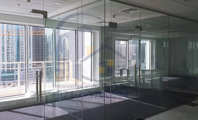 Office Glass Partition Installation