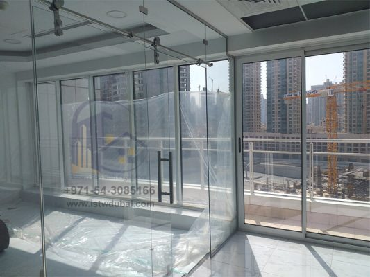 Sliding Door Office Glass Partition