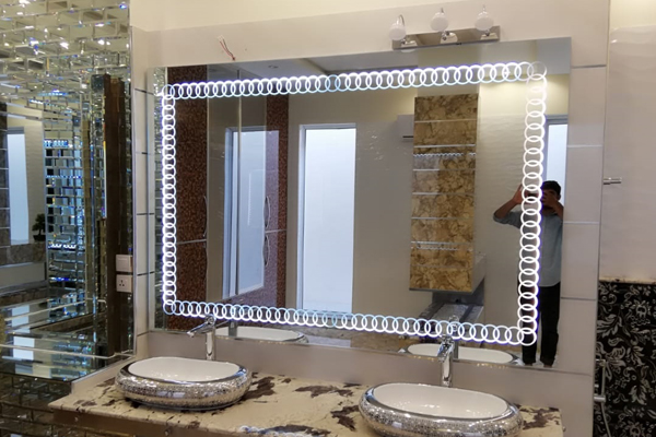 bathroom mirrors installation