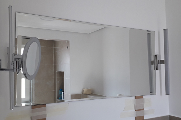 wall mirror in villa