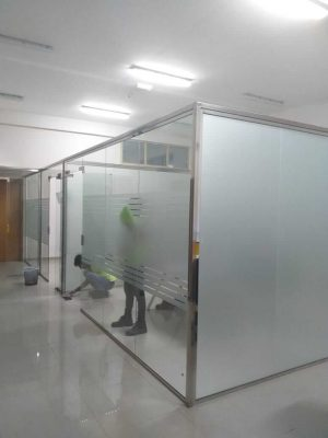 SS Glass Partition