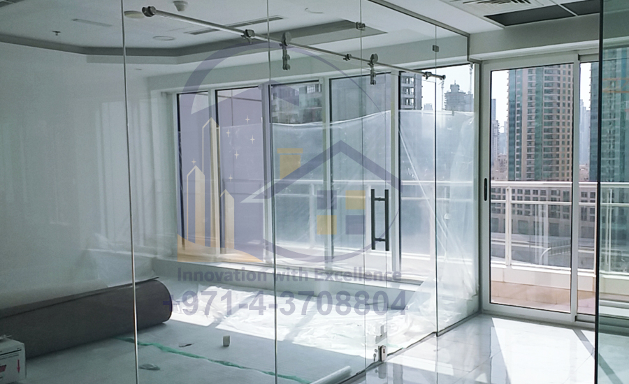 Full Height Glass Partition