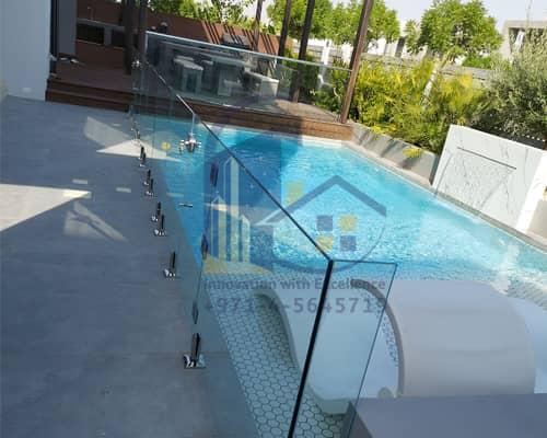 Pool glass fencing in Dubai